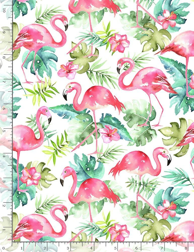 Watercolor Flamingos C7822 from Timeless Treasures