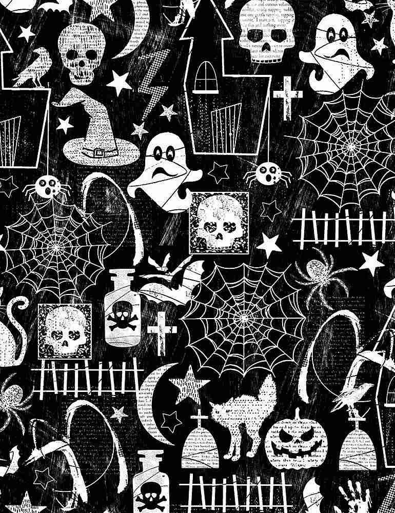 Halloween Glow Motifs FUN-CG7787 from Timeless Treasures