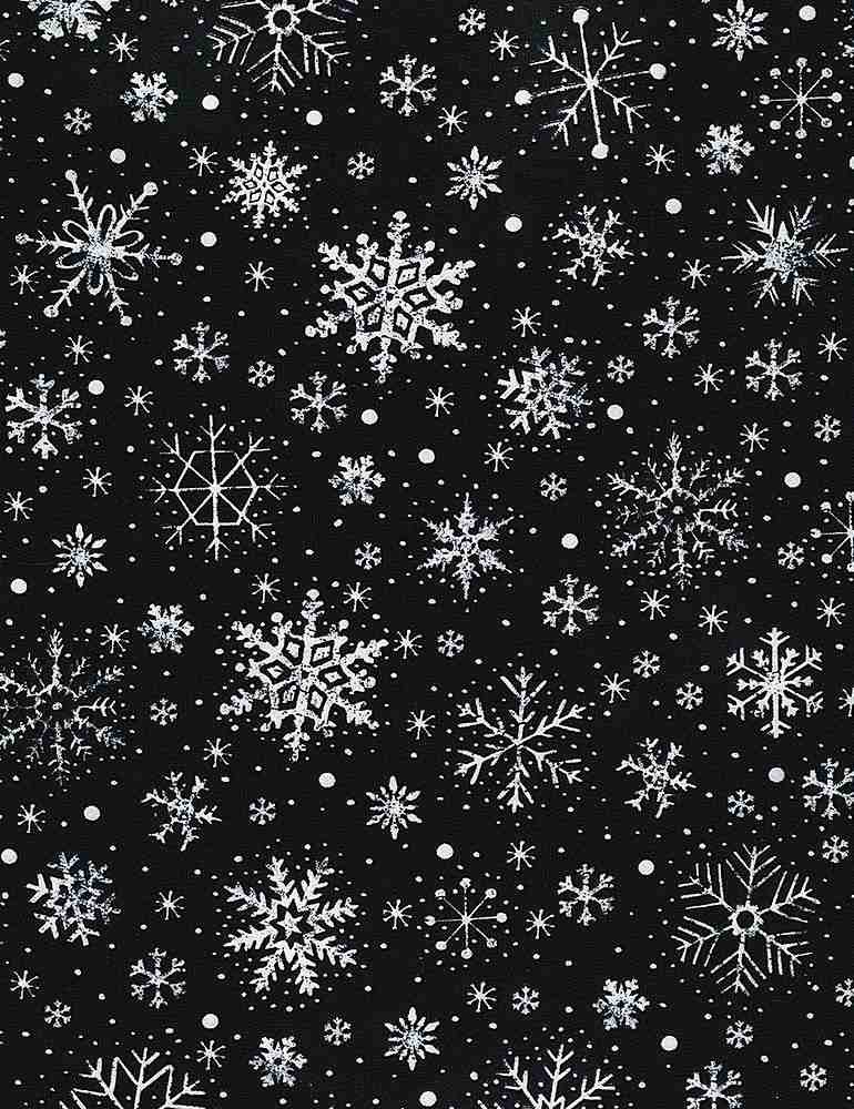 Silent Night C6886 Chalk Snowflakes from Timeless Treasures