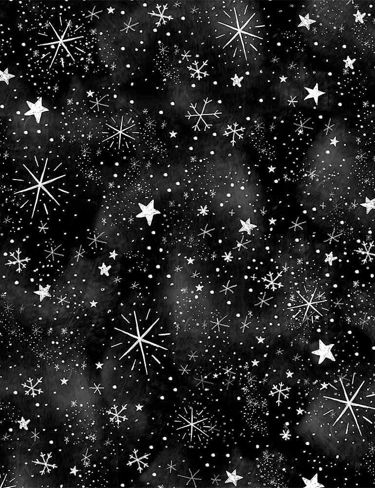 Silent Night C8466 Stars BLACK from Timeless Treasures