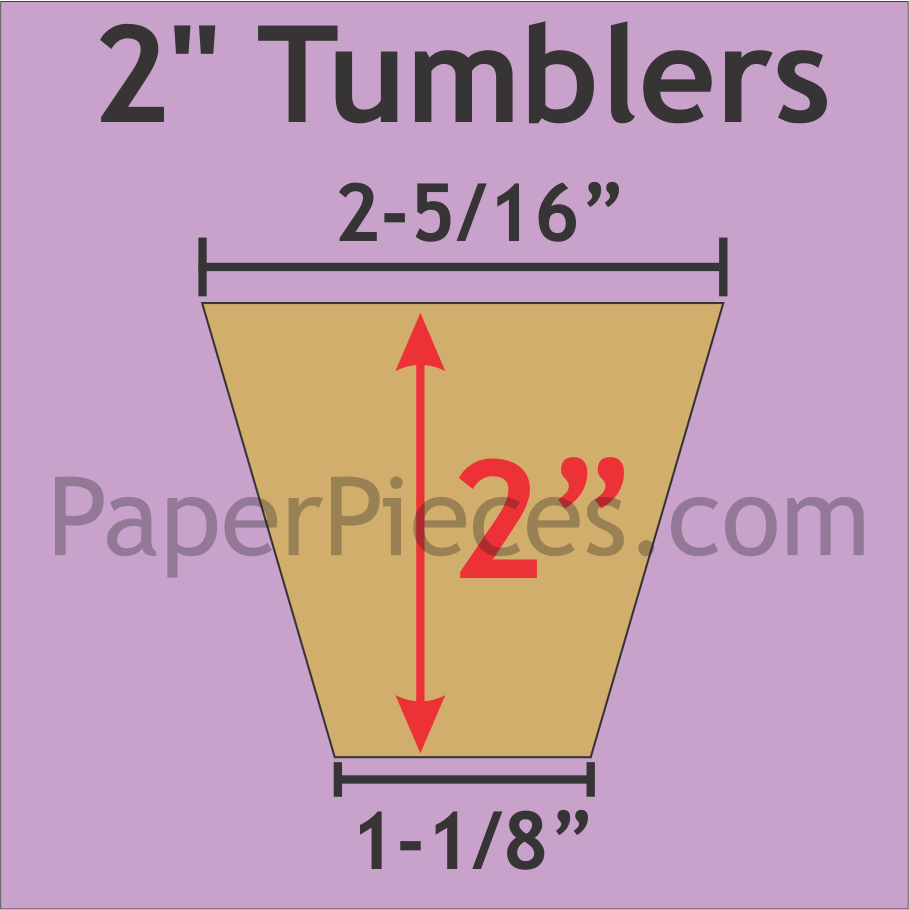 2 Tumbler PapersPaper Pieces TUM200