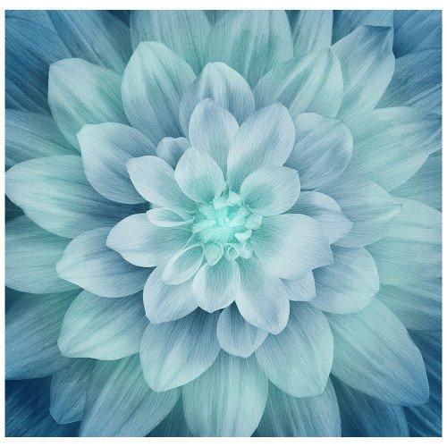 Dream Big Turquoise Dahlia Panel P4389 61 Spectrum Digital by Hoffman Fabrics