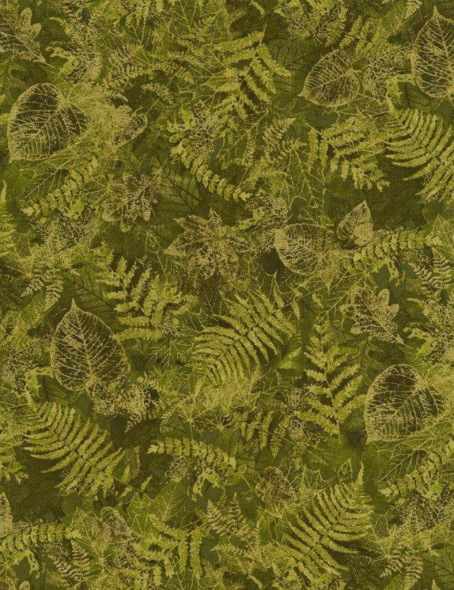 Harvest Leaves CM6142 Green by Timeless Treasures