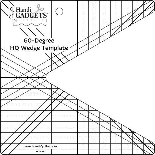 HQ 60 Degree Wedge Ruler Template