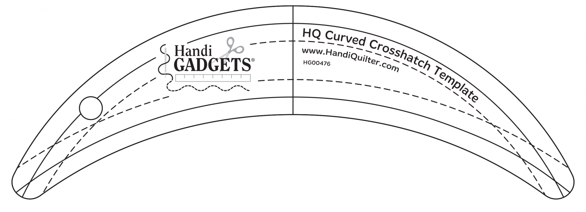 HQ Curved Crosshatch Template