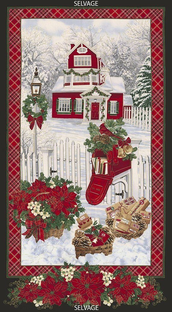 Christmas Morning Panel CM4987-Snow from Timeless Treasures