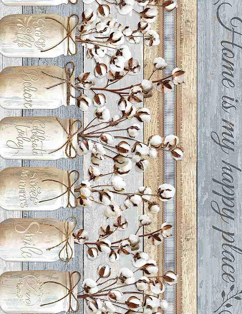 Cotton Joy HOME-C7176 Mason Jars 11 Stripe from Timeless Treasures