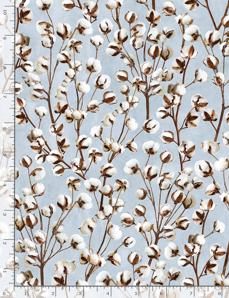 Cotton Joy HOME-C7177 Cotton Blossoms from Timeless Treasures