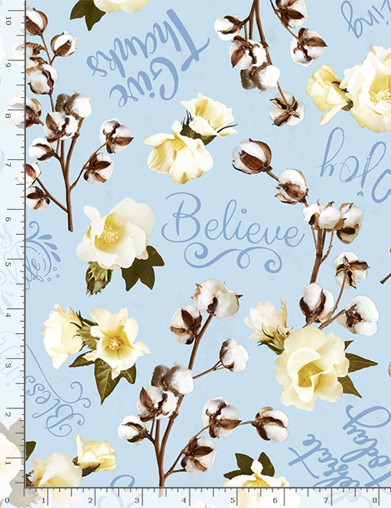 Cotton Joy HOME-C8129 Believe Tossed Cotton from Timeless Treasures