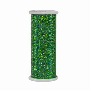 Glitter Hologram Thread 205 Green Superior Threads