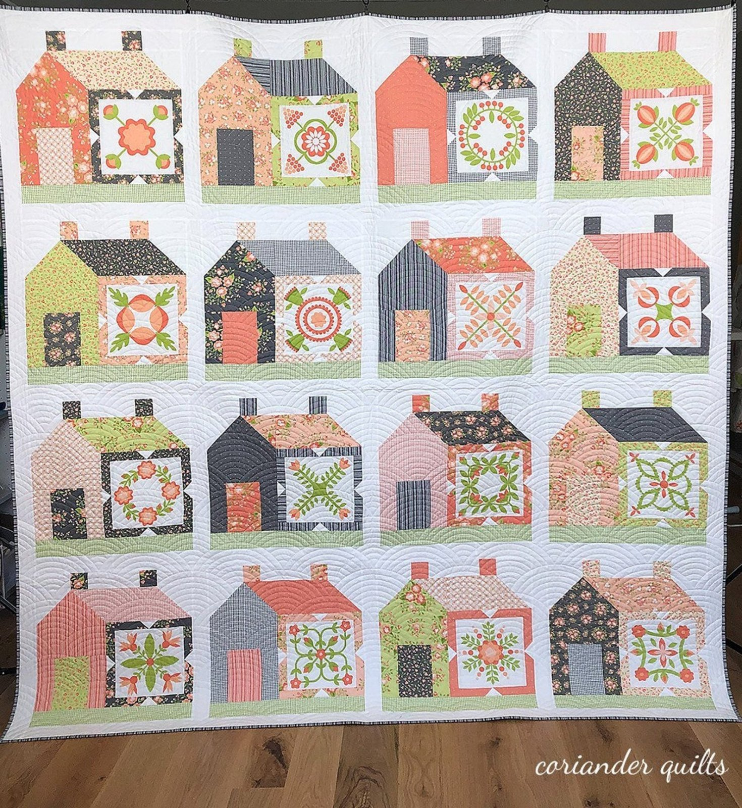 Friendly Neighbor Quilt Kit using Apricot & Ash fabrics from Corey Yoder