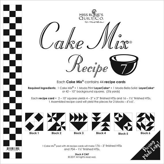Cake Mix Recipe 7 from Miss Rosie's Quilt Co for Moda 44 ct