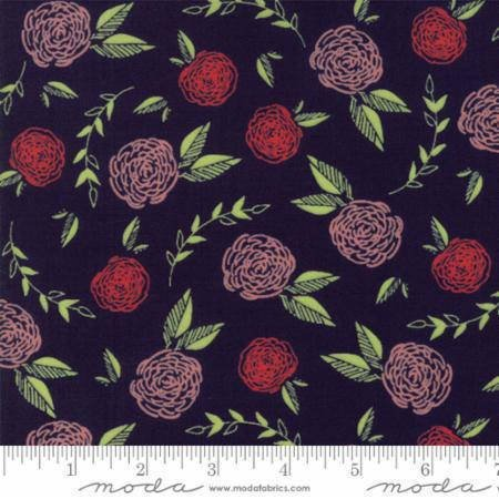 Creekside Roses 37531-15 Midnight by Sherri & Chelsi of A Quilting Life for Moda