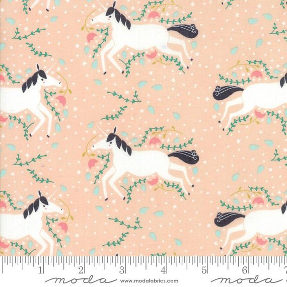Enchanted Snuggles 48251-14S Unicorns Galore Blush 60 Wide by Moda