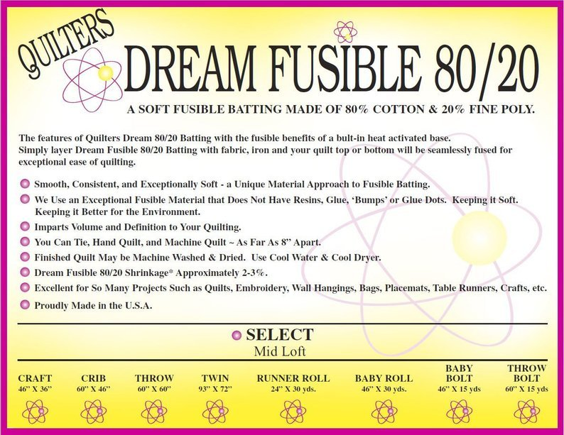 Batting - Quilter's Dream Fusible 80/20 Twin