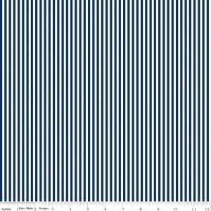 Riley Blake Challenge Fabric 2018 C495 Navy Stripes 1/8