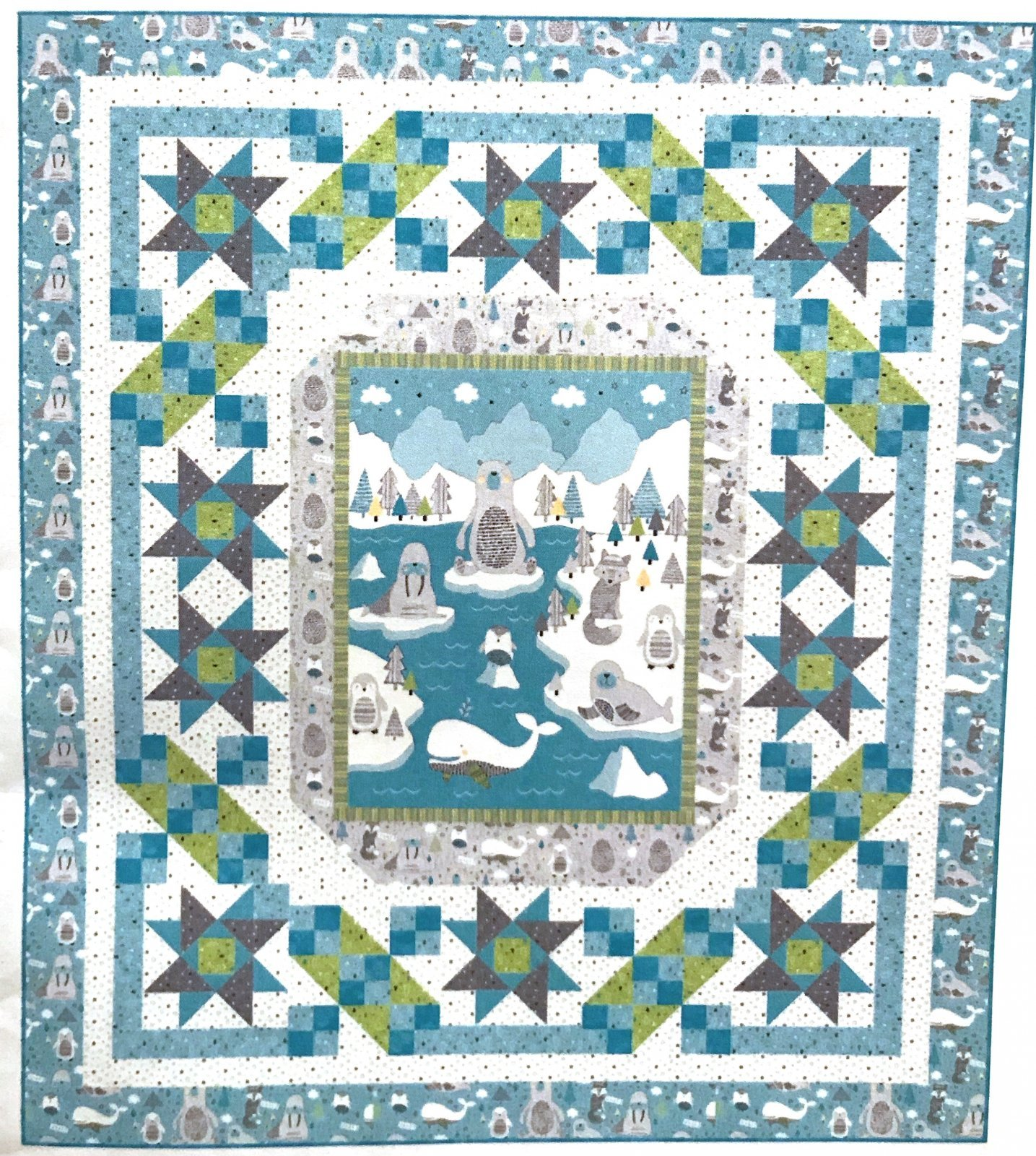 Brrr Stars Quilt Kit by Pine Tree Country Quilts