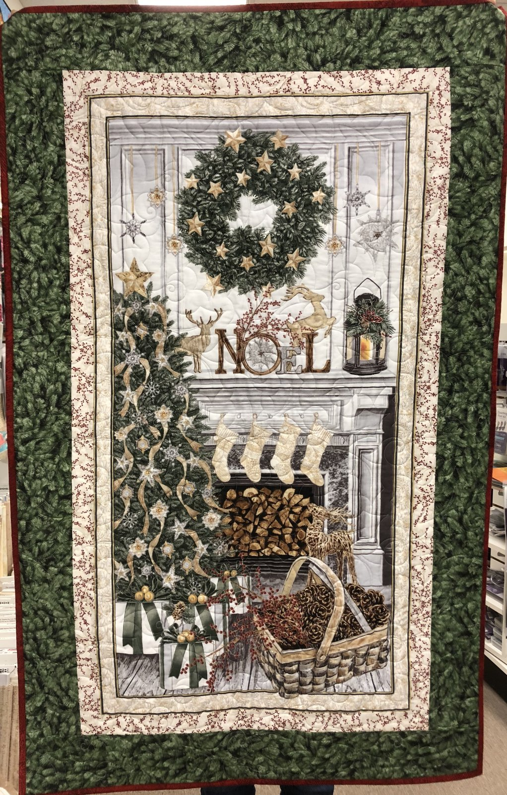 White Noel Wall Hanging Kit