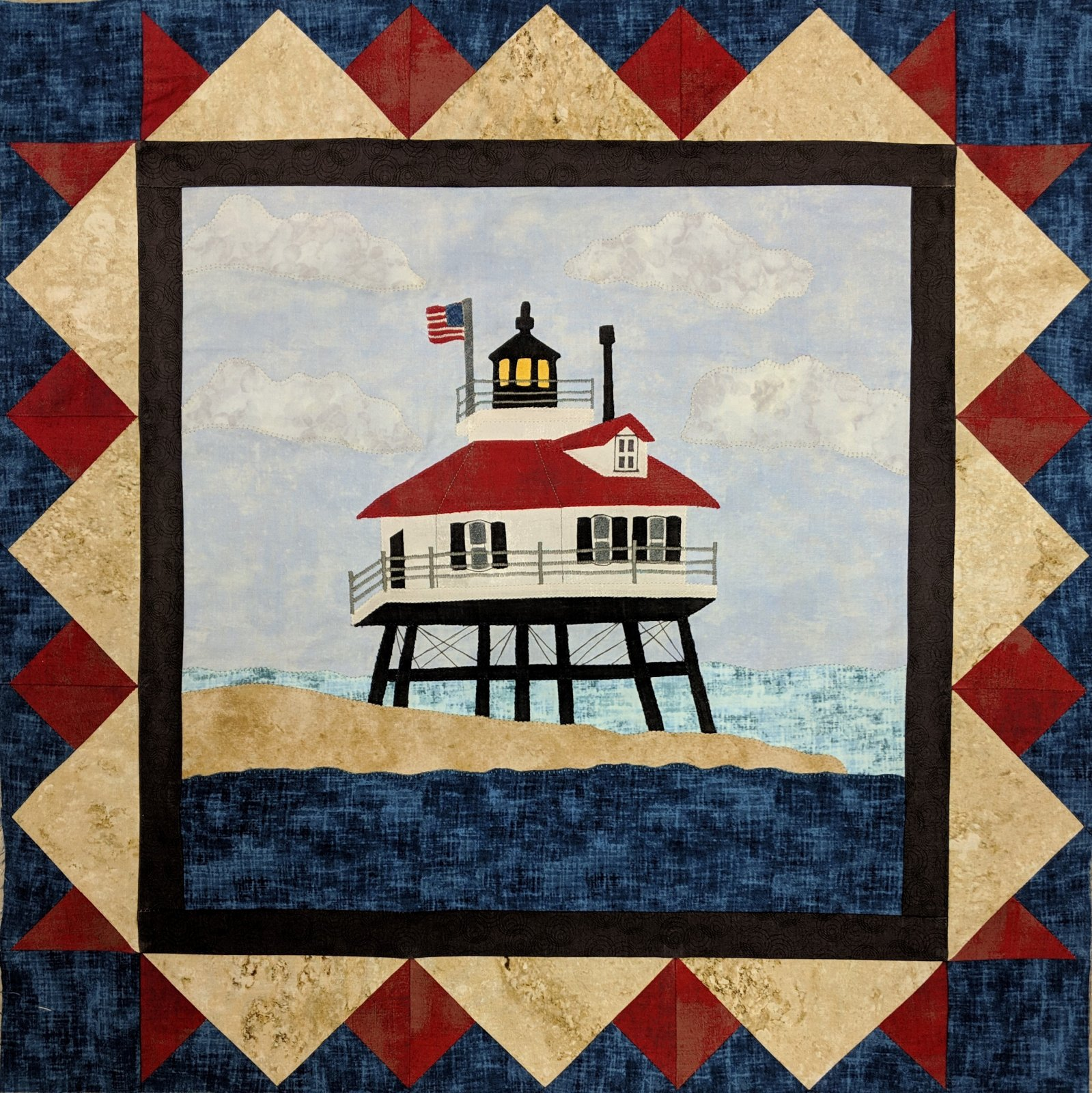 Light at the Point Wallhanging Pattern - Drum Point Lighthouse