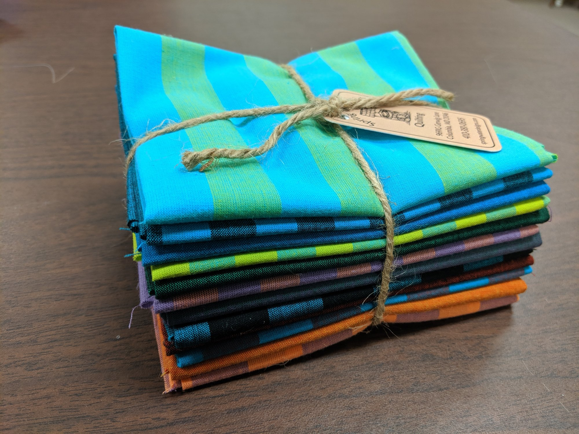 Kaffe Fasset Stripe/Shot Cotton Fat Quarter Bundle
