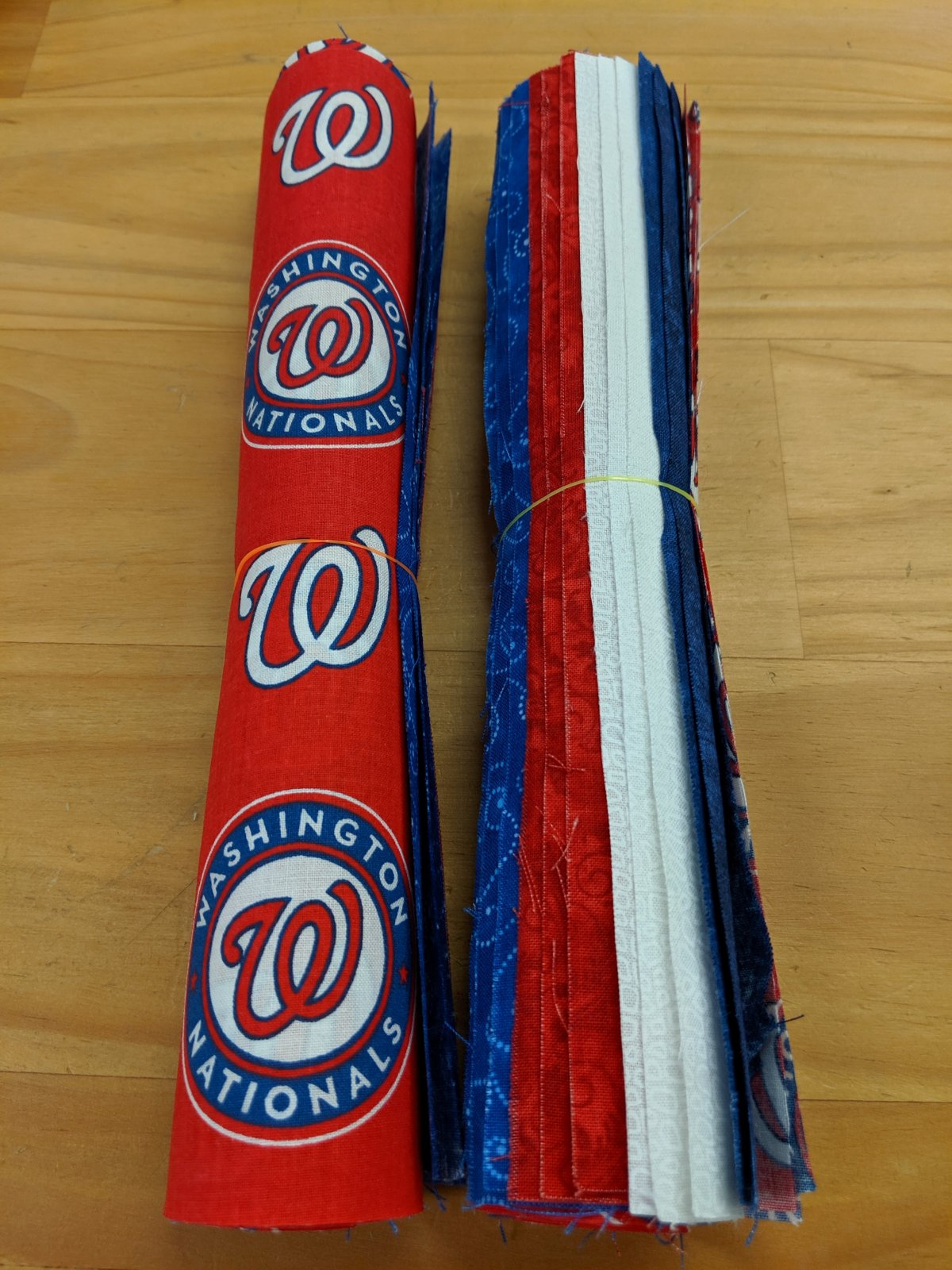 Washington Nationals Themed Roll of 10 Inch Squares