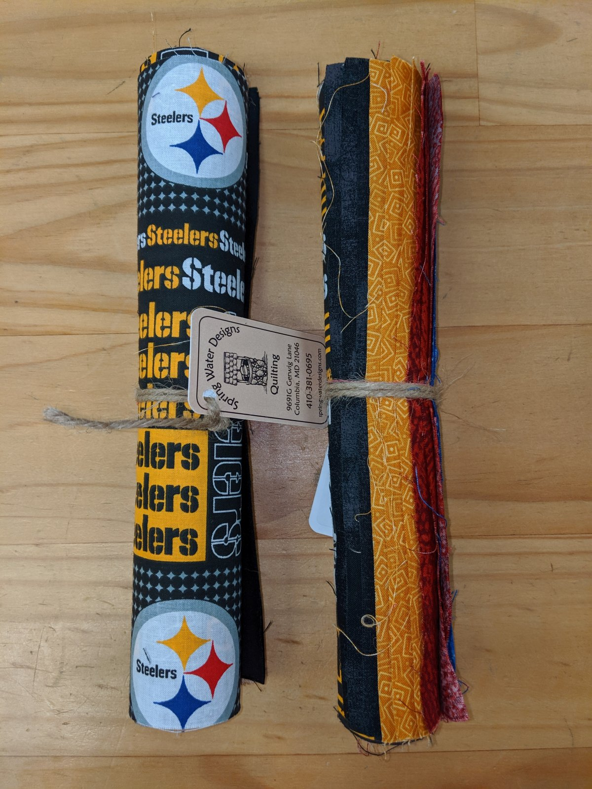 Pittsburg Steelers Themed Roll of 10 Inch Squares