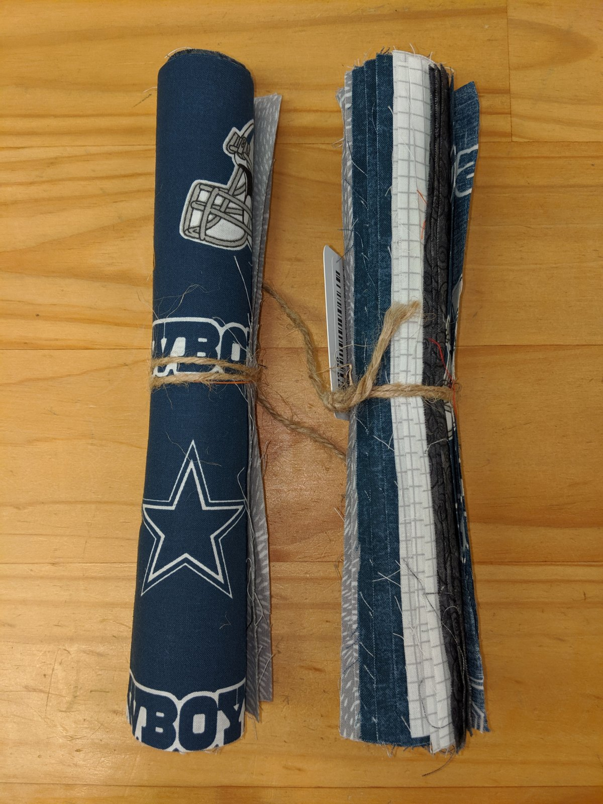 Dallas Cowboys Themed Roll of 10 Inch Squares