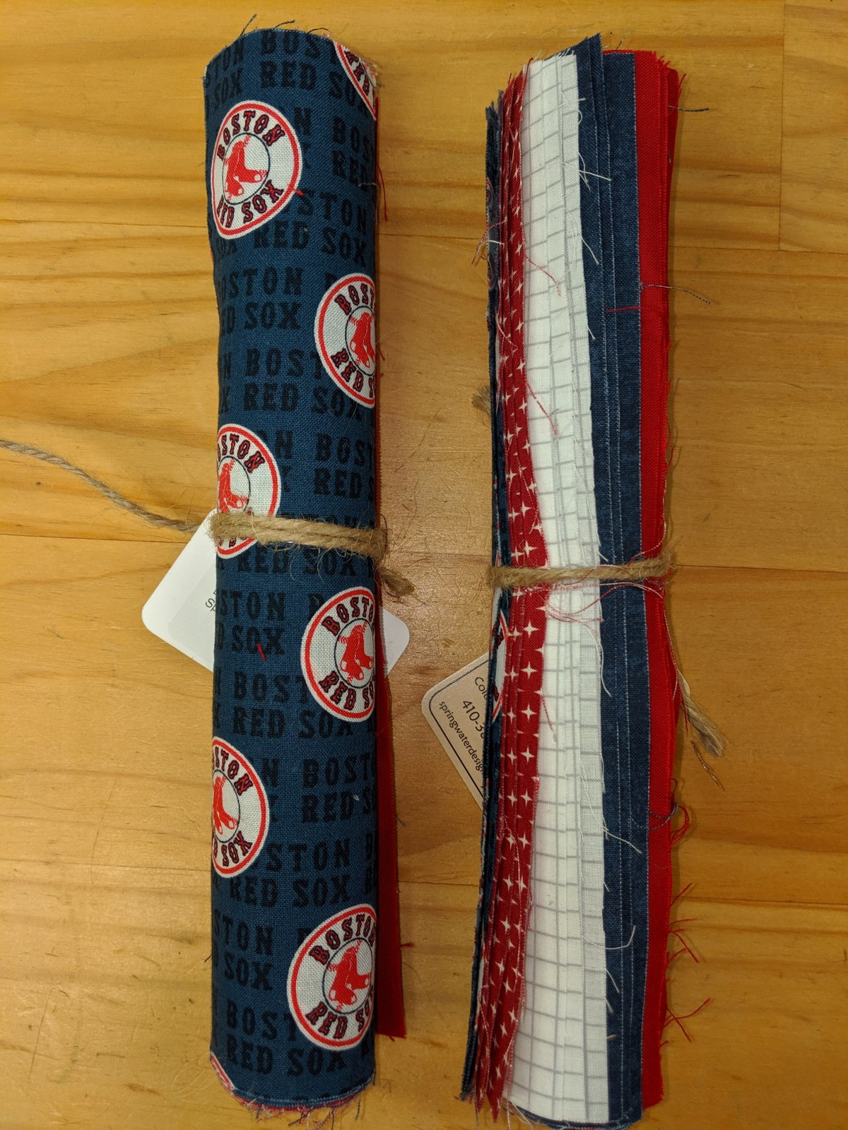 Boston Red Sox Themed Roll of 10 Inch Squares