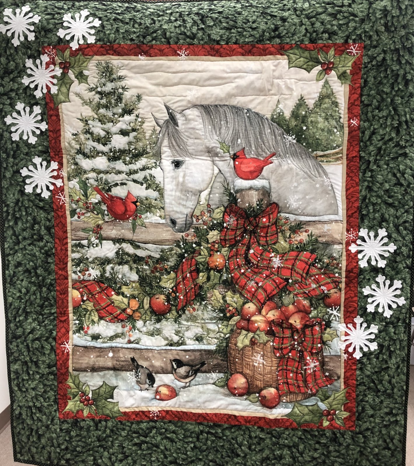 Christmas Horse Wall Hanging Quilt Kit