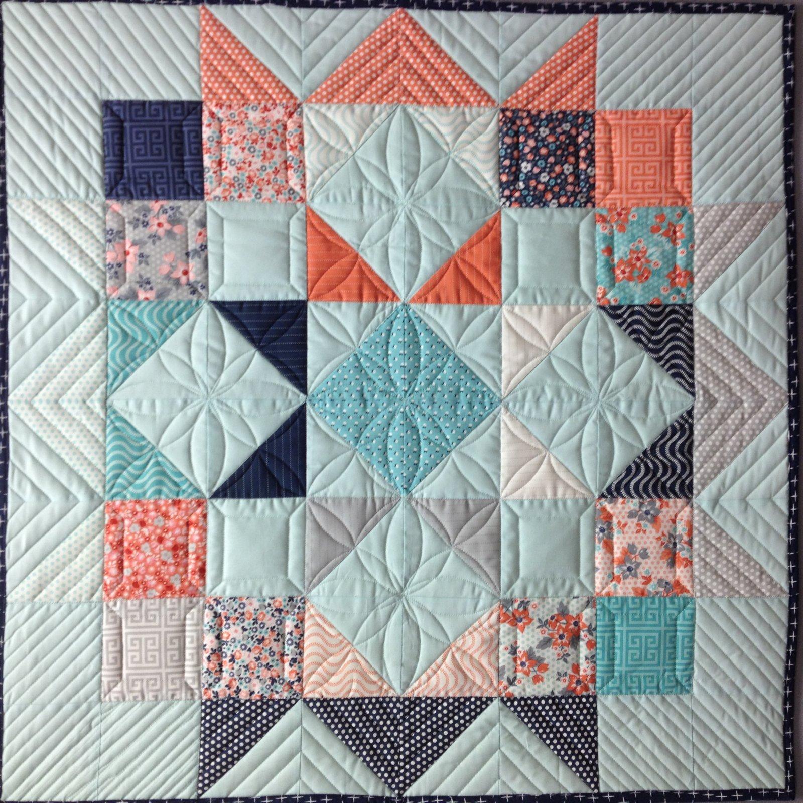 Moda Love Charm Baby Quilt Kit