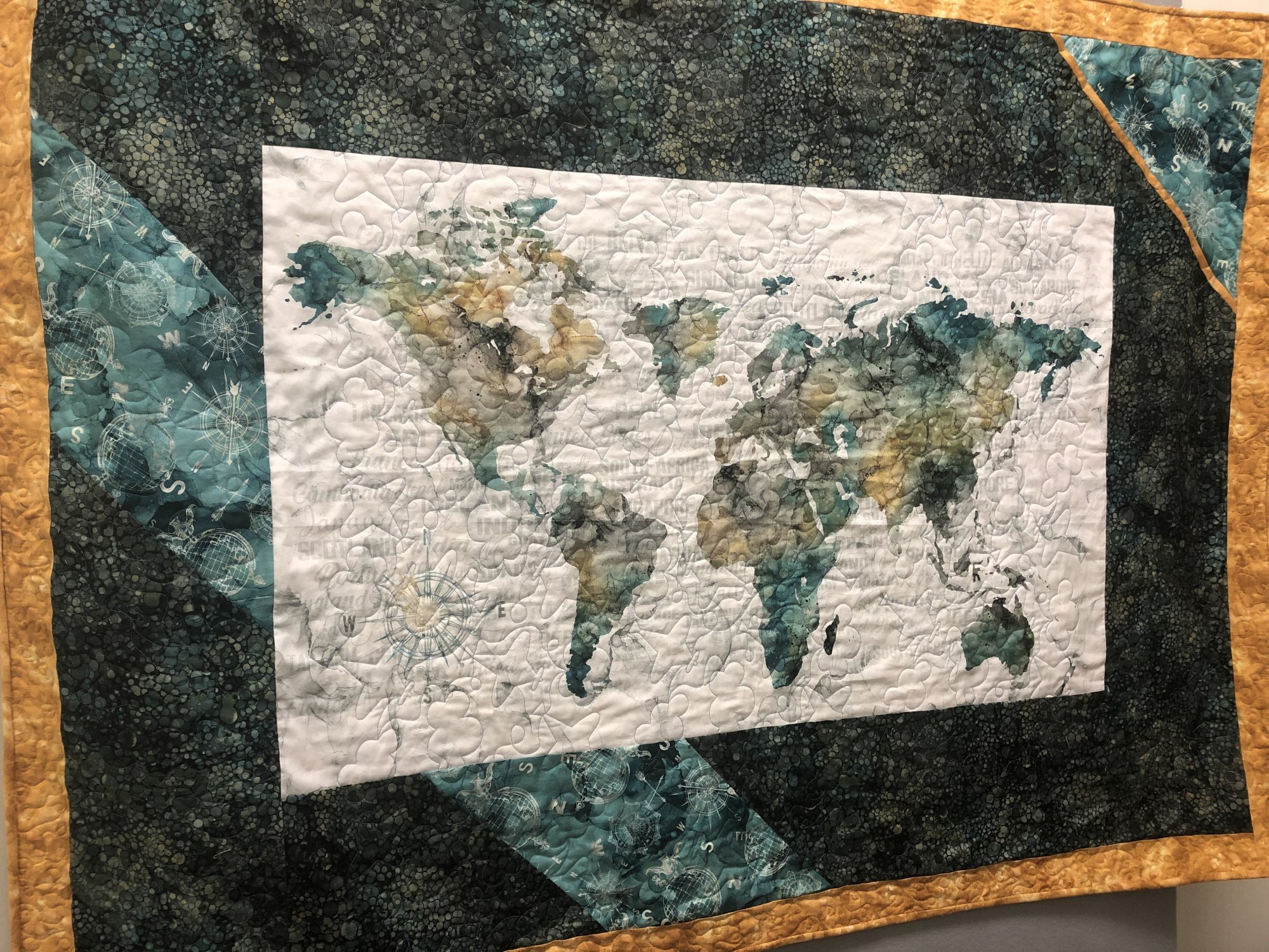 Journey Map Wall Hanging Quilt Kit