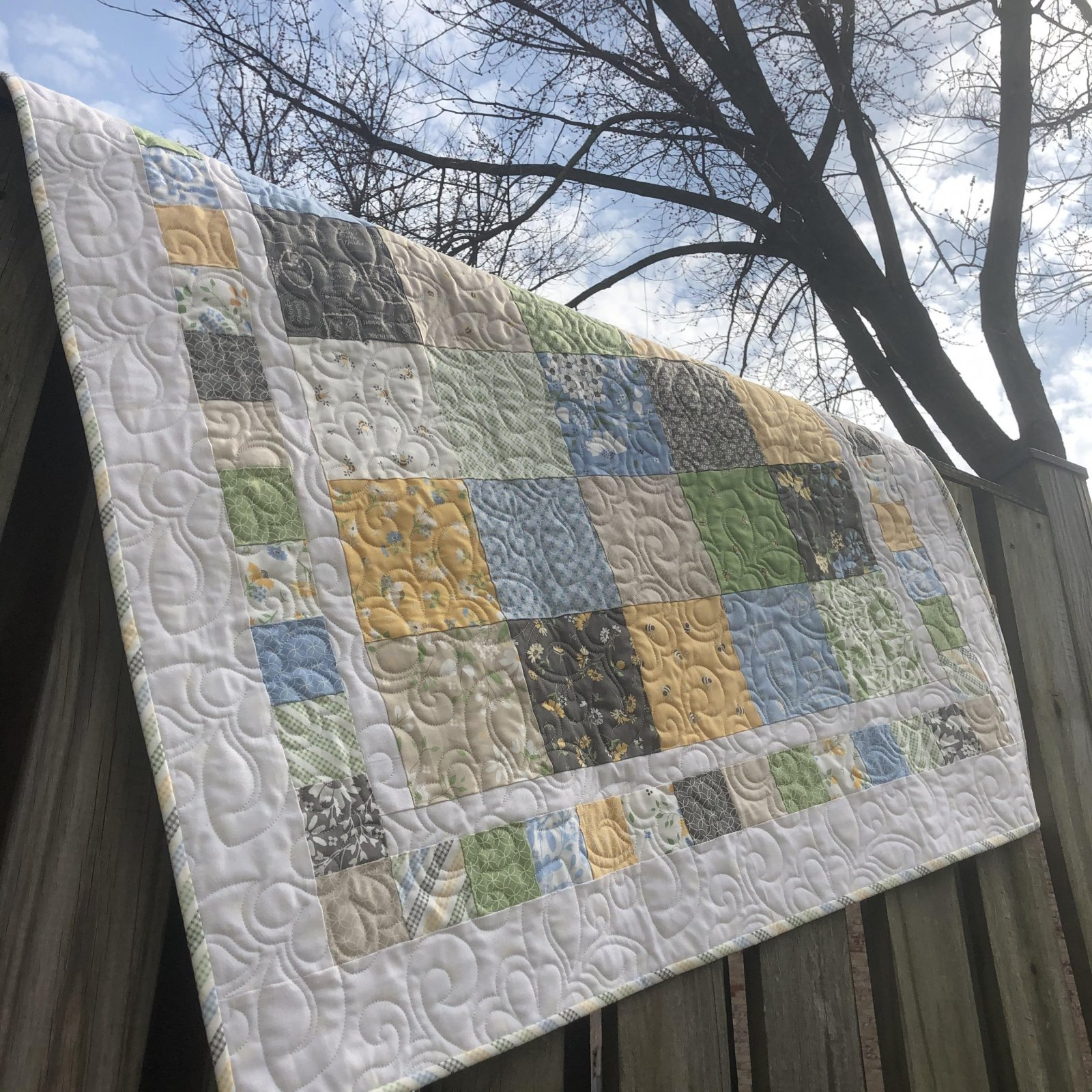 Fresh & Fun Modern Crib Quilt Kit - Spring Brook