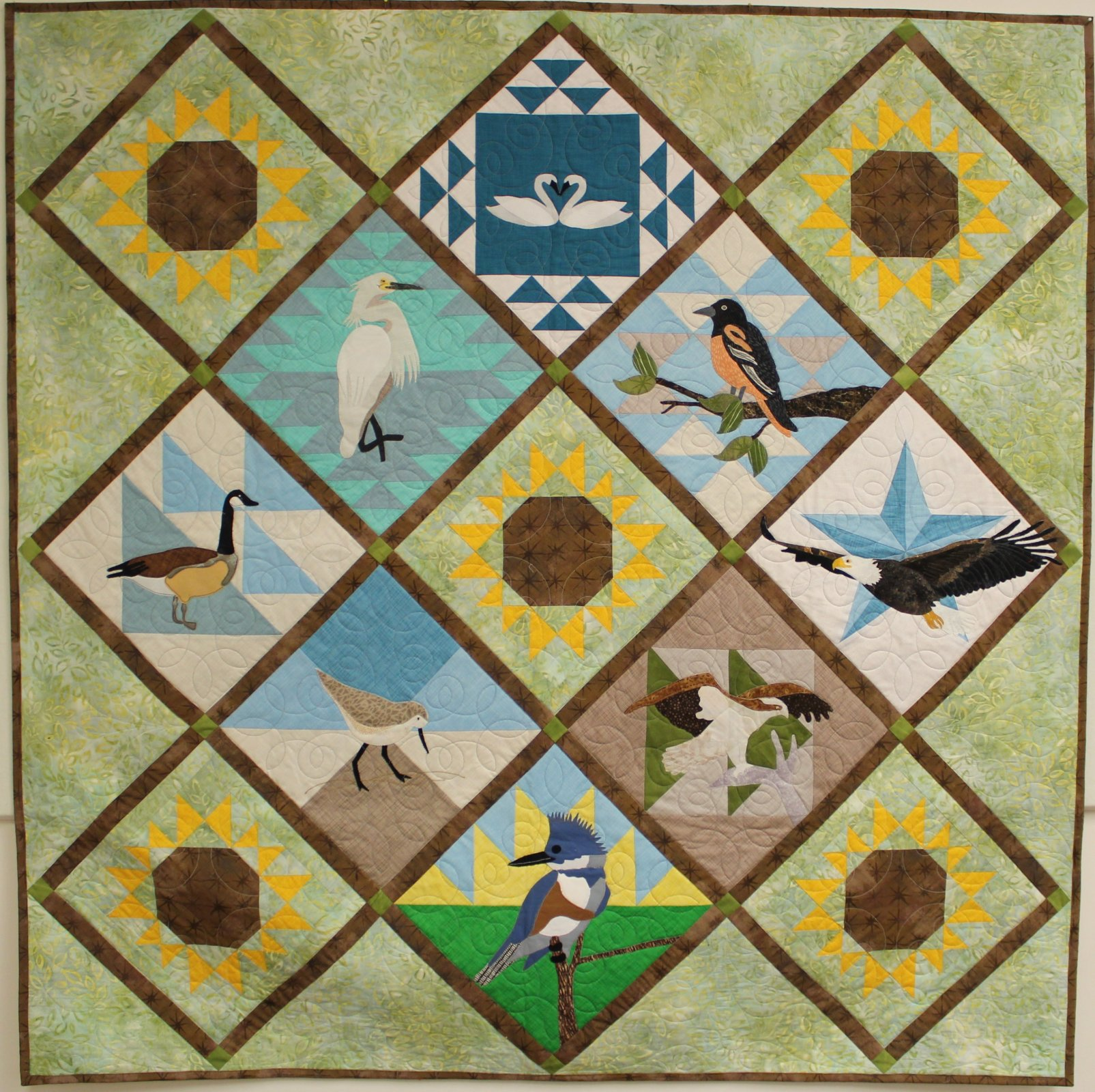 Birds of the Bay Setting Pattern SWD 2020 Quilts Around the Bay