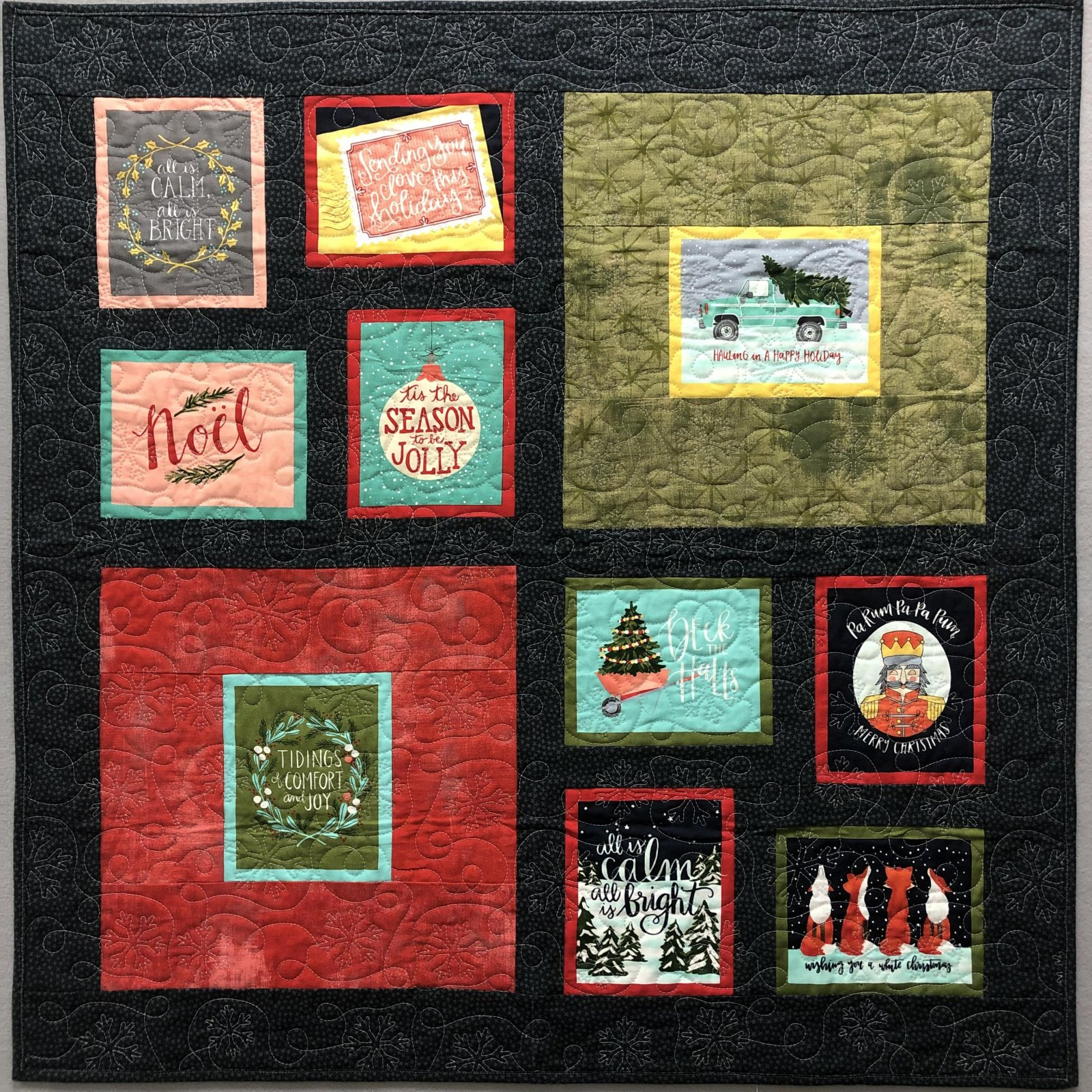 Four Your Holiday Wall Hanging Quilt Kit