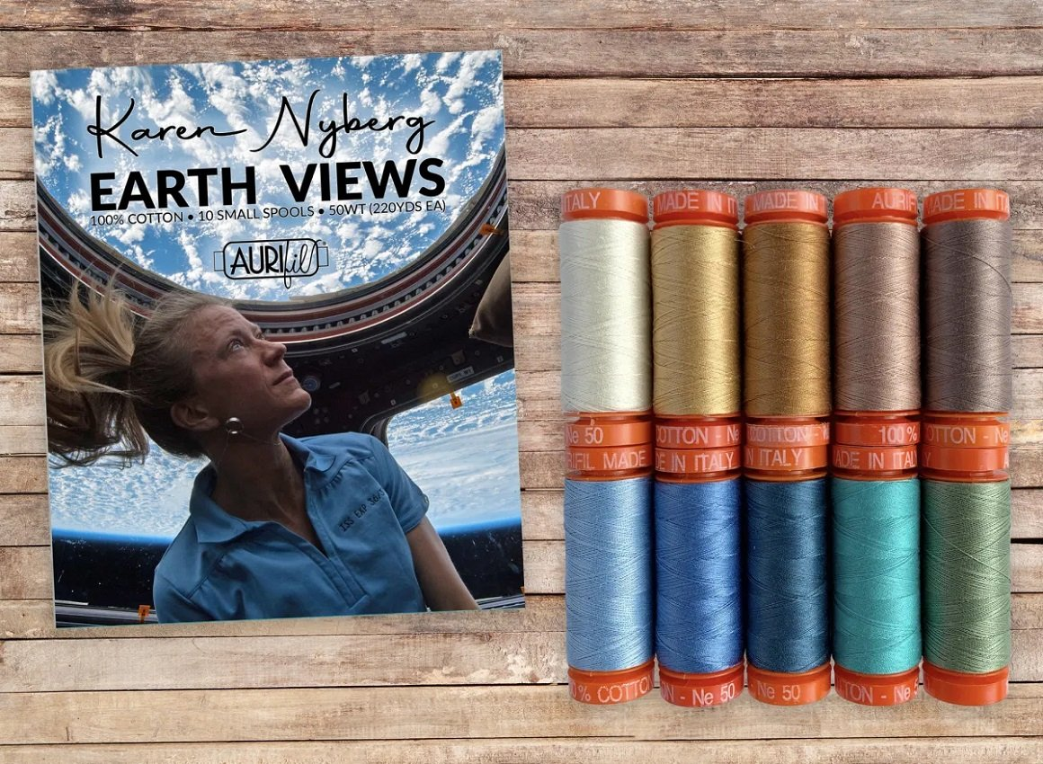 Earth Views Aurifil Thread Collection by Karen Nyberg