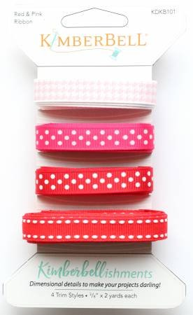 Kimberbellishments Ribbon Trims by KimberBell - Red & Pink Ribbon