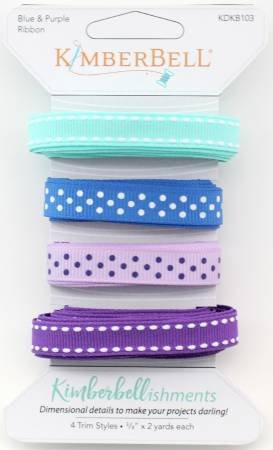 Kimberbellishments Ribbon Trims by KimberBell - Blue & Purple Ribbon