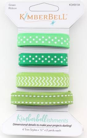 Kimberbellishments Ribbon Trims by KimberBell - Green Ribbon