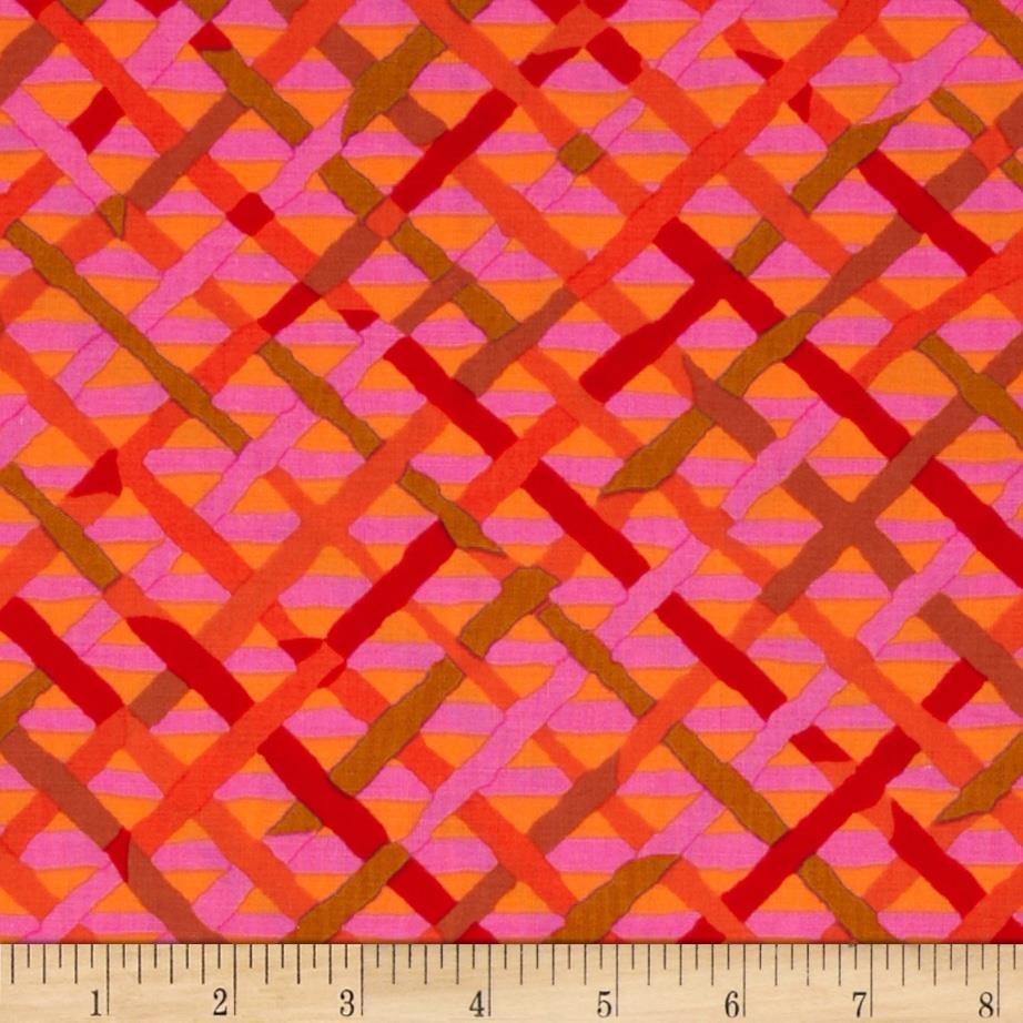 Kaffe Fassett Mad Plaid PWBM037 REDXX from Free Spirit Fabrics