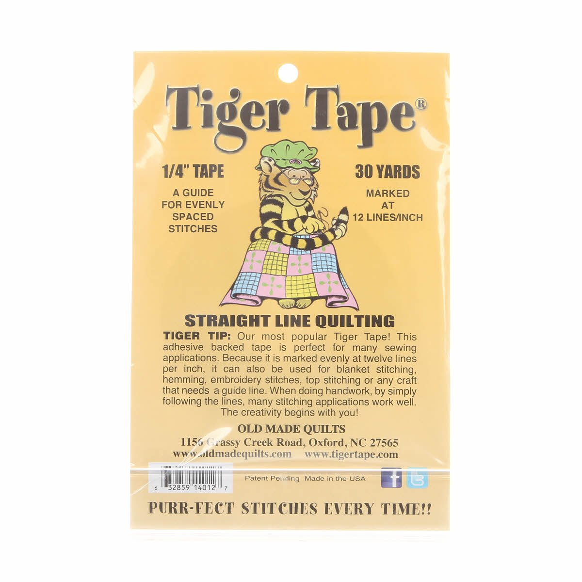 Tiger Tape 12 Marks Inch - 1/4 inch wide