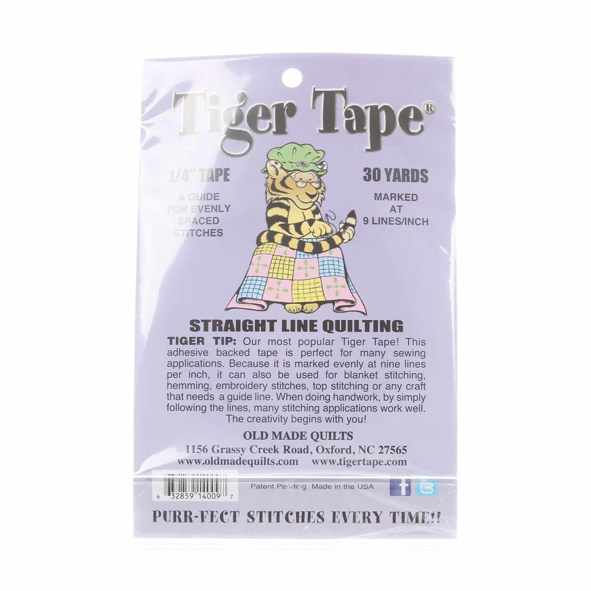 Tiger Tape 9 Marks Per Inch - 1/4 inch wide