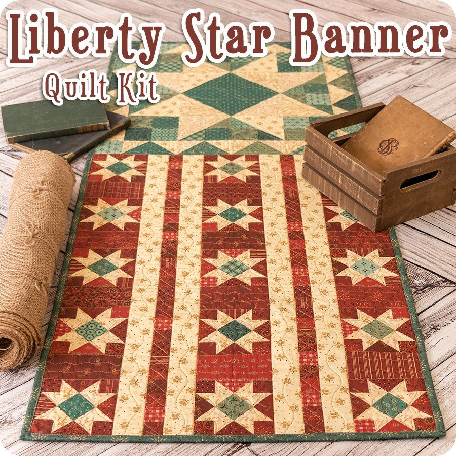 Liberty Star Wall Hanging Quilt Kit by Kim Diehl