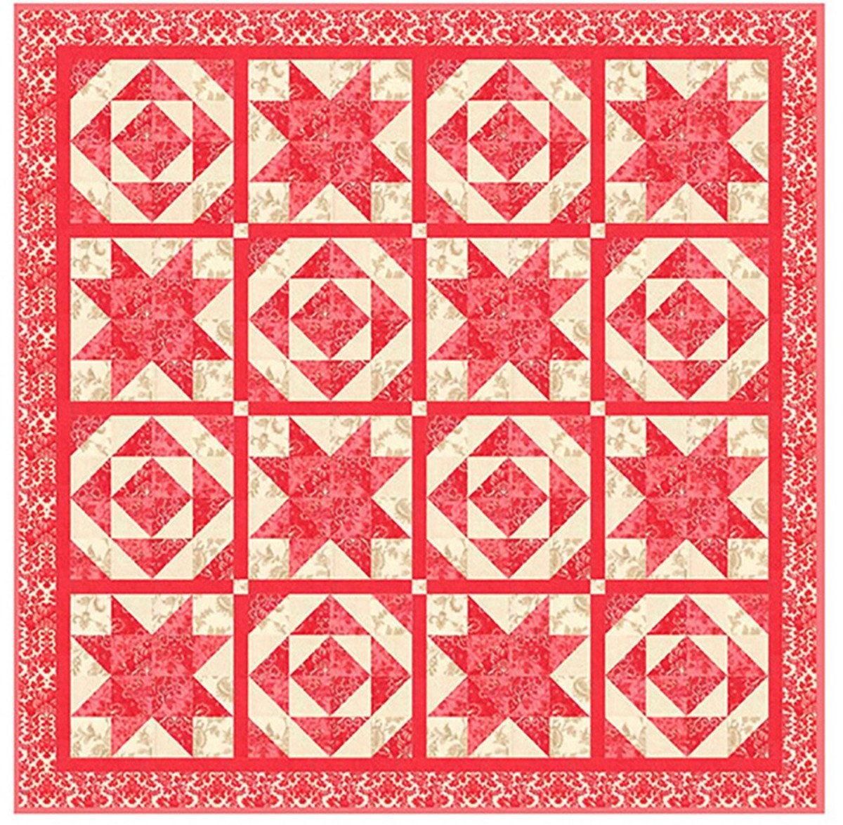 Oh Little Star Quilt Kit with Cinniberry by 3 Sisters for Moda