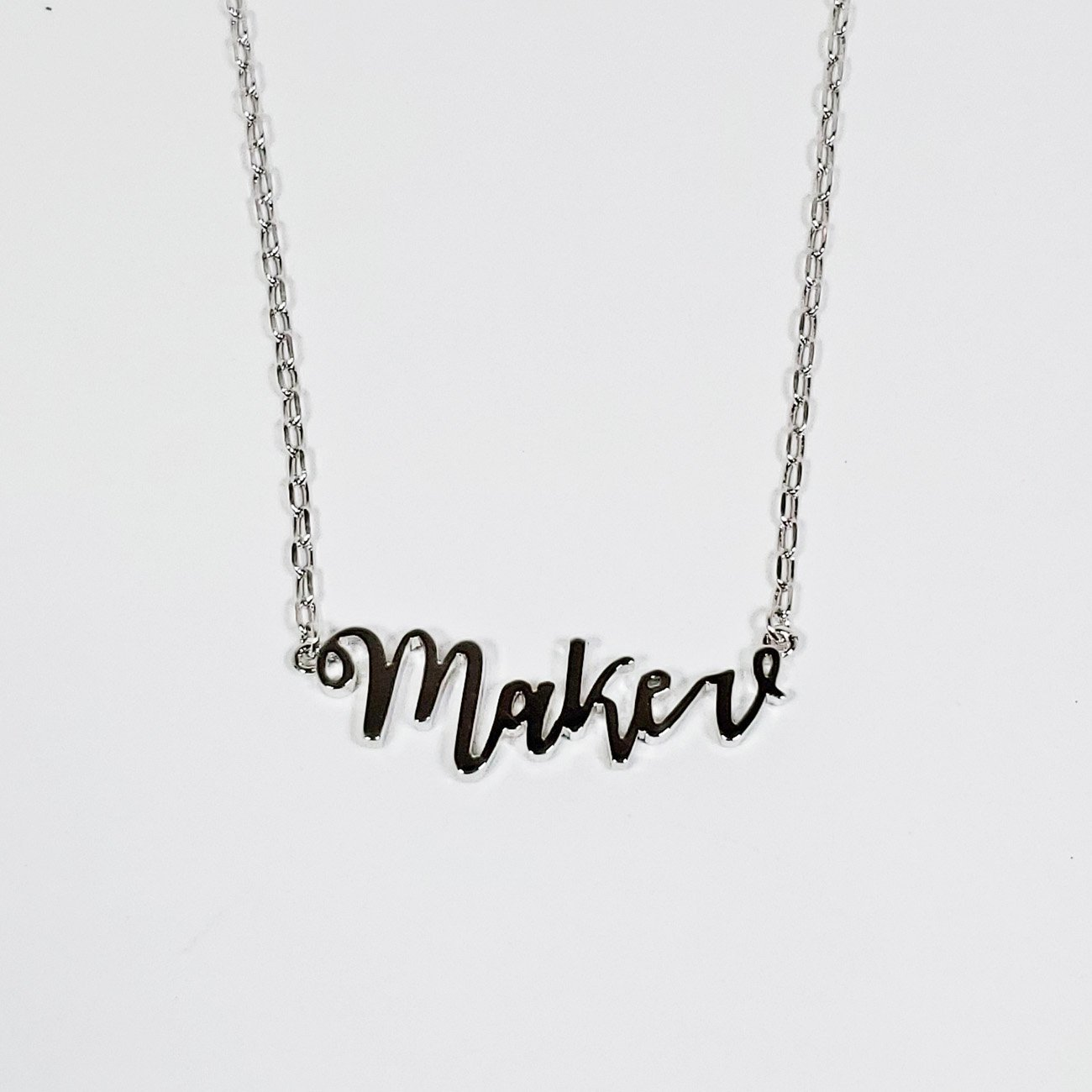 Maker Necklace Silver from the Quilt Spot