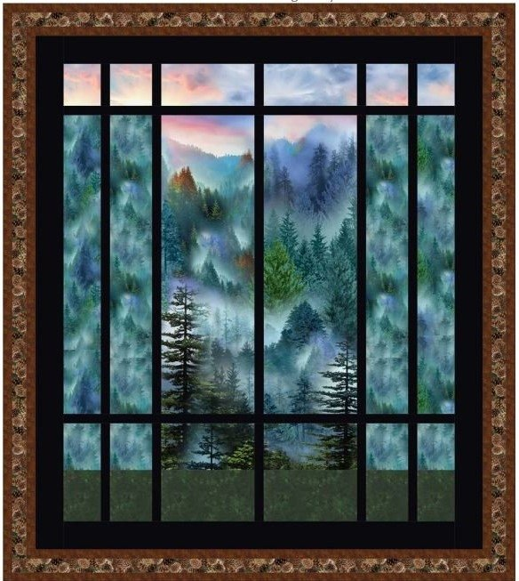 Window View Quilt Kit using Mountain Vista Fabric Collection from Timeless Treasures Fabrics
