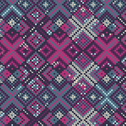 Mystical Land MSL-23966 Refractions Violet by Maureen Cracknell for AGF