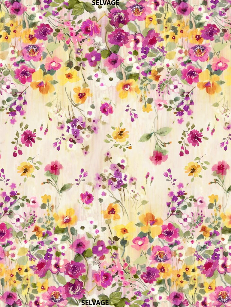 Muse C5791 Natural Double Border by Alice Kennedy for Timeless Treasures
