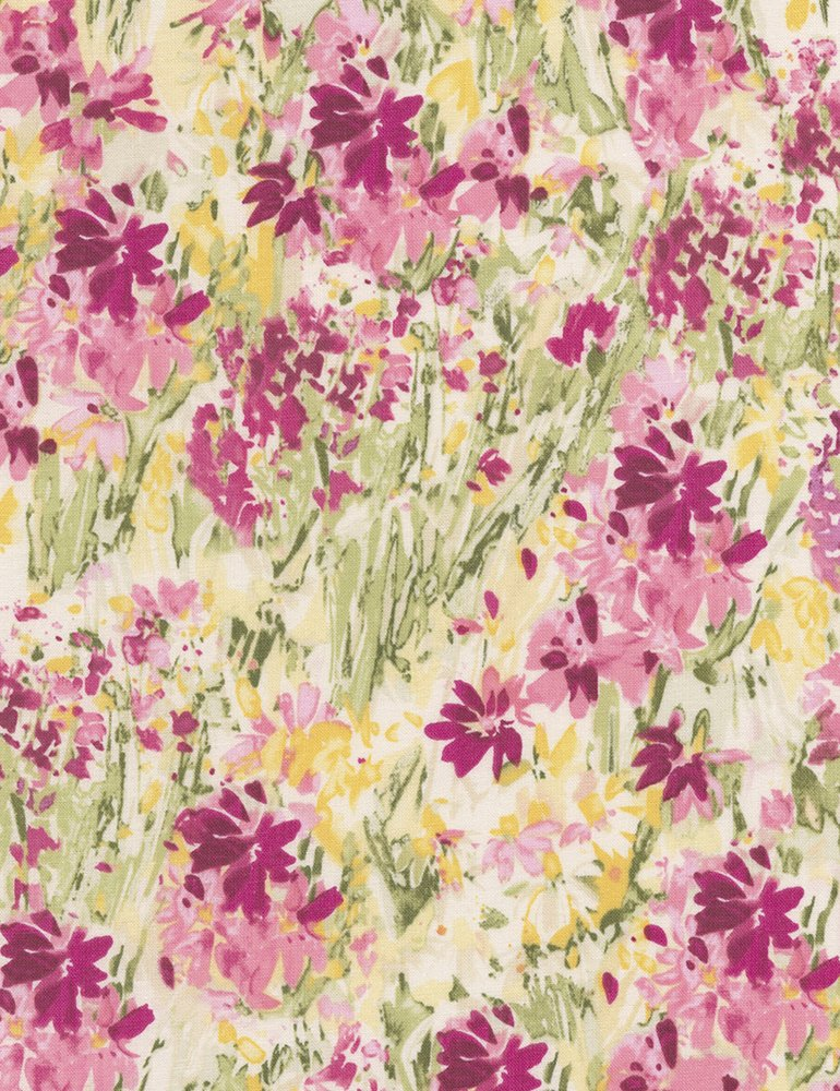 Muse C5793 Cream Flower Field by Alice Kennedy for Timeless Treasures