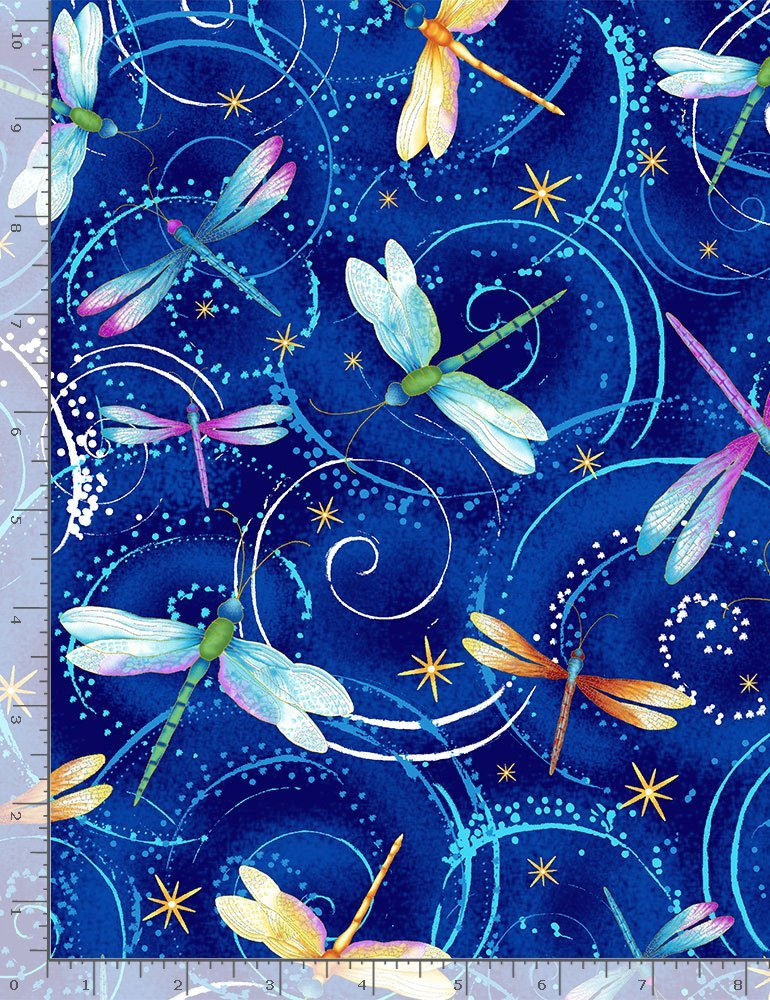 Dancing Dragonflies CM8235 from Timeless Treasures