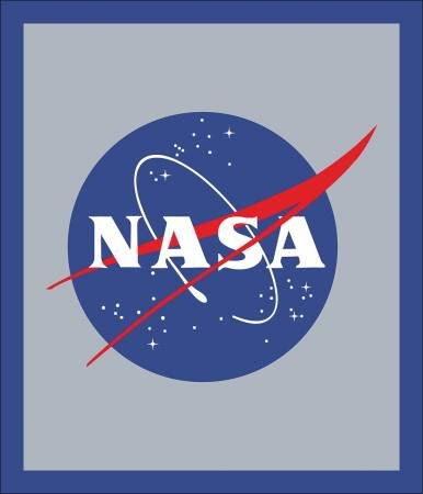 NASA P7806-Blue Logo Panel from Riley Blake Designs